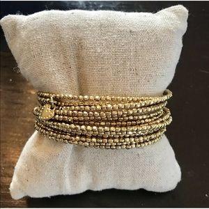Stella & Dot Gold Bardot Wrap Bracelet